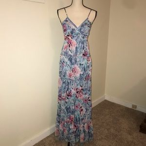 Candie's Floral Maxi Dress with beaded detail